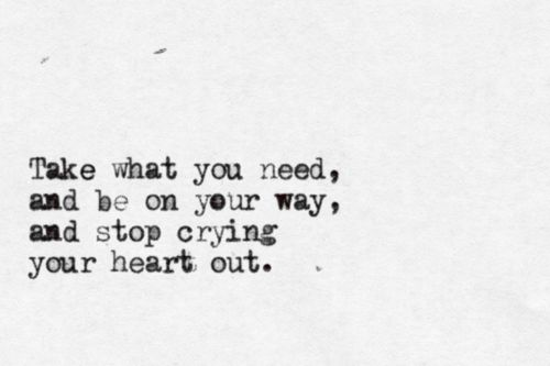 Stop Crying Your Heart Out by