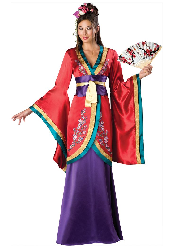 Geisha Oriental Chinese Japanese Adult Women Halloween Costume