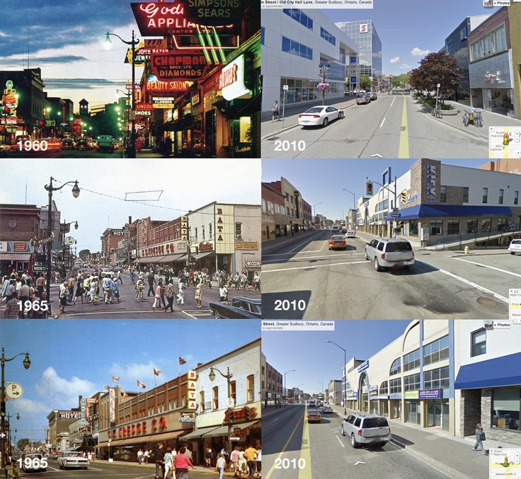 Sudbury 1960's and 2010.
