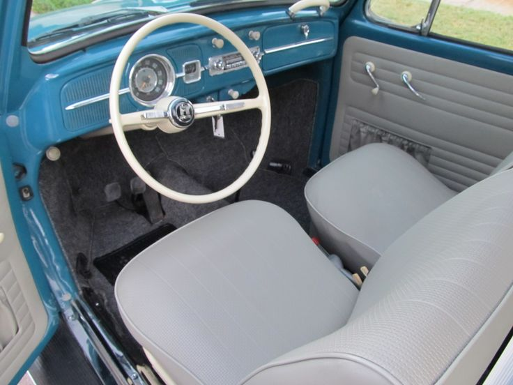 1965 Volkswagen Beetle — A nicely, restored sunroof Bug finished in Sea Blue with the new Bone ...