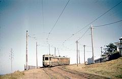 1960, Bronte Beach tram....rattling down the cutting....
