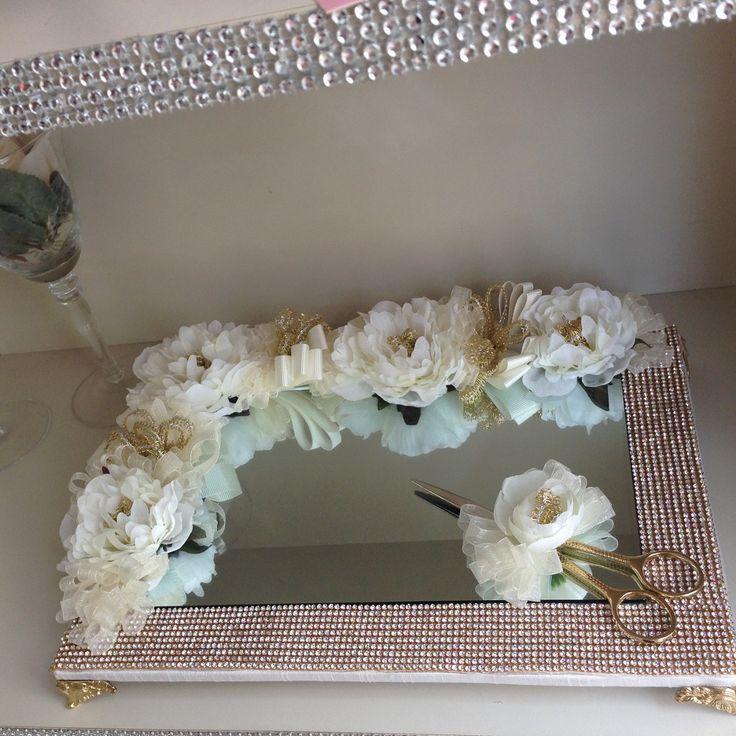 Çiçek Dekorasyonlu Ve Ayaklı Söz Ve Nişan Tepsisi 41654246 - n11.com