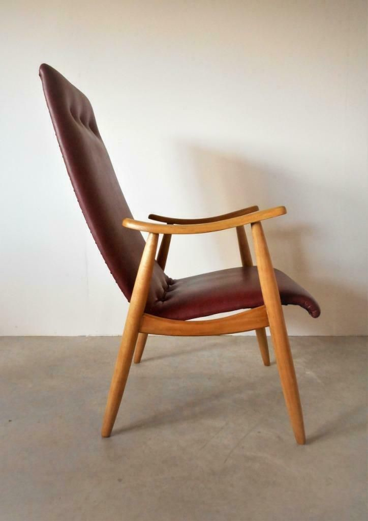 Design Stoelen Tweedehands Marktplaats.Louis Van Teeffelen Fauteuil Vintage Design Jaren 50 60