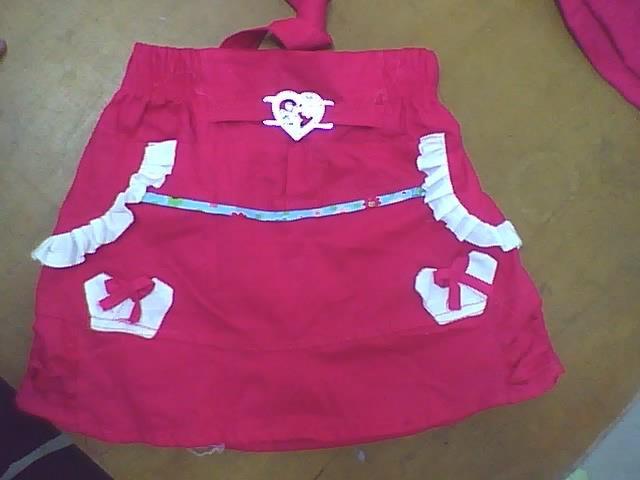 modelos de falda short para niñas cortadas en telas popelina y ...