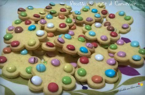 Biscotti con pepite di carnevale
