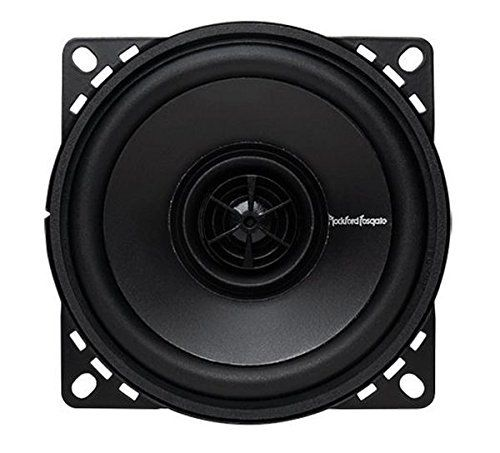 "#Rockford #Fosgate #R14X2 #Prime 4-Inch #Full #Range #Coaxial #Speaker - #Set of #2 The #R14X2 is a 4"" 2-way full-range #speaker rated at 30 watts RMS for a new generation of factory replacement speakers. Kit includes two speakers with grilles, integrated high-pass crossovers and mounting hardware. Vacuum Polypropylene cone, Rubber surround, Stamped steel basket, Silk dome flush mounted tweeter, Integrated tweeter crossover, Grilles and mounting hardware included, 1 Year Stan"