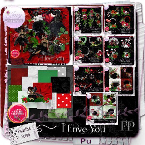 I Love You by Josy JosyCréations Créations Available @ http://www.paradisescrap.com/fr/112_josy-creations