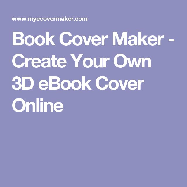 Book Cover Design Generator : Best ideas about book cover maker on pinterest
