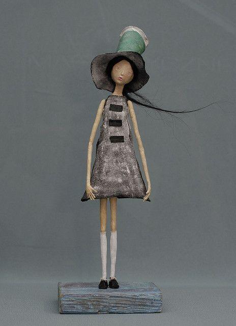 paper mache girl