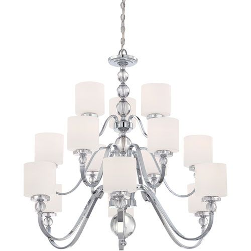 Quoizel Downtown Polished Chrome 41.5 Inch 15 Light Chandelier On SALE