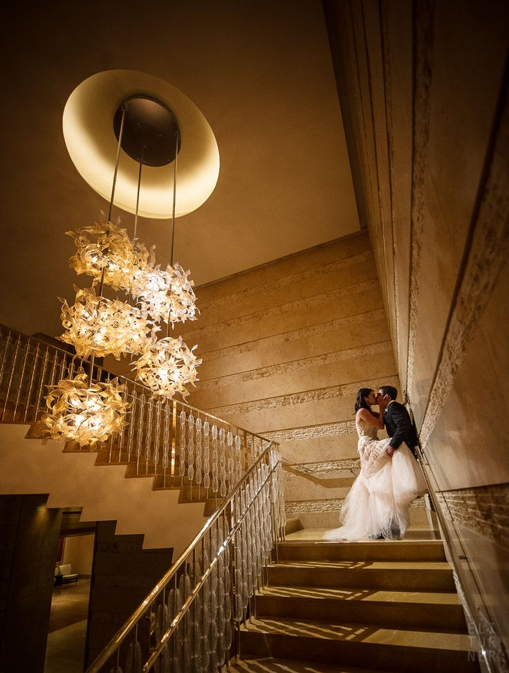 Stunning wedding photograph at @Four Seasons Hotel Baltimore's Grand Staircase.