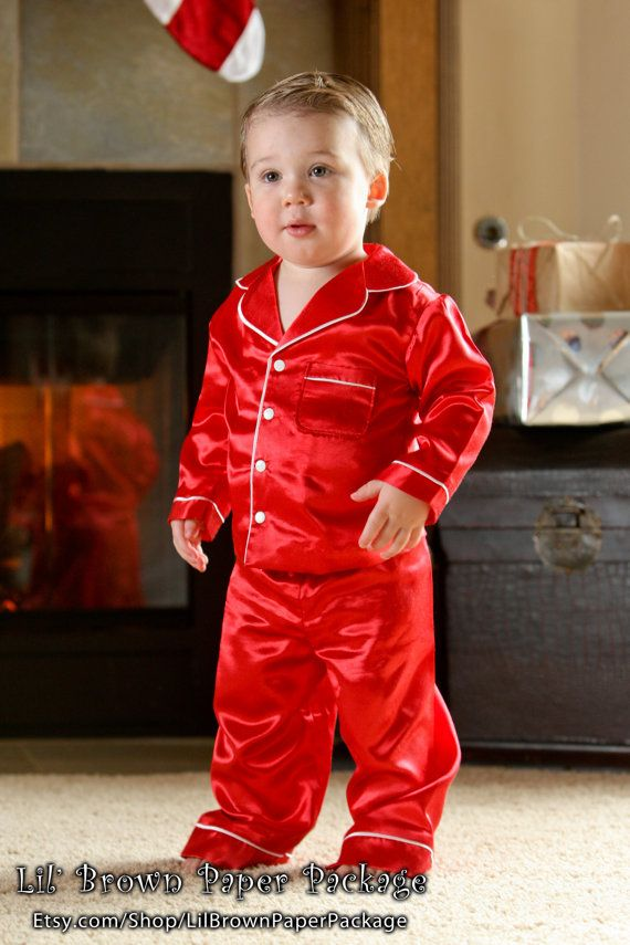 Boys Christmas Pajamas by LilBrownPaperPackage on Etsy, $60.00