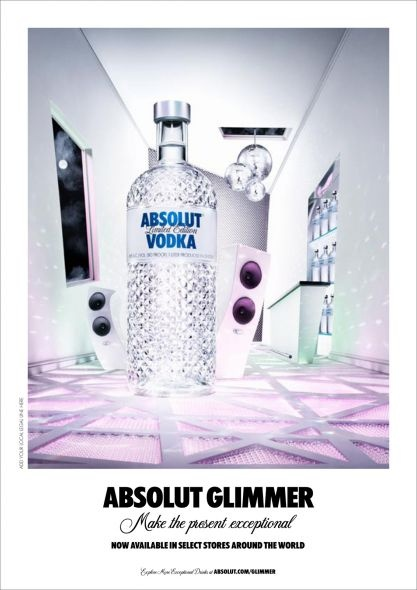 "Absolut Glimmer  ""Make the present exceptional"""