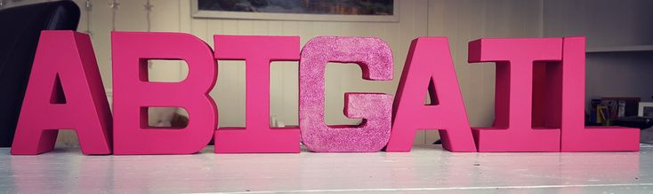 Nursery room letters name decoration girl
