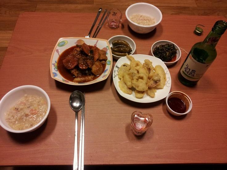 조촐한 저녁밥상^^ 처음처럼과 함께 합니다^^