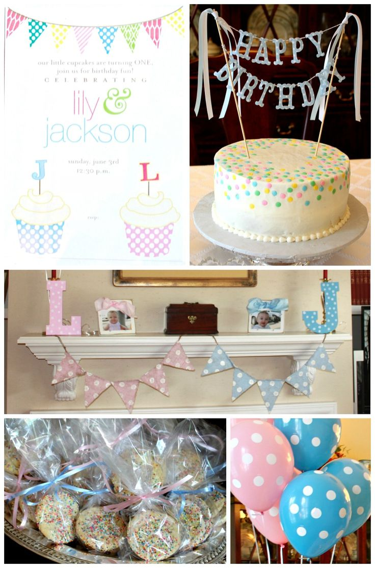 Twins Polka Dot First Birthday Party!