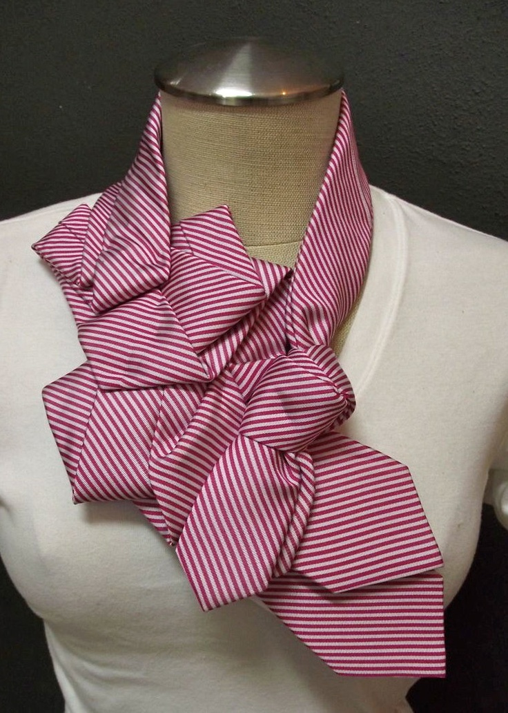 Prudence Knot-Handstitched Upcycled Necktie Collar-Atascadero. $48.00, via Etsy.