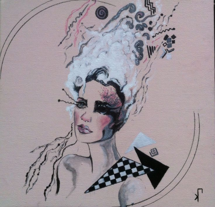 Portrait - Illustration - acrylics on panel canvas