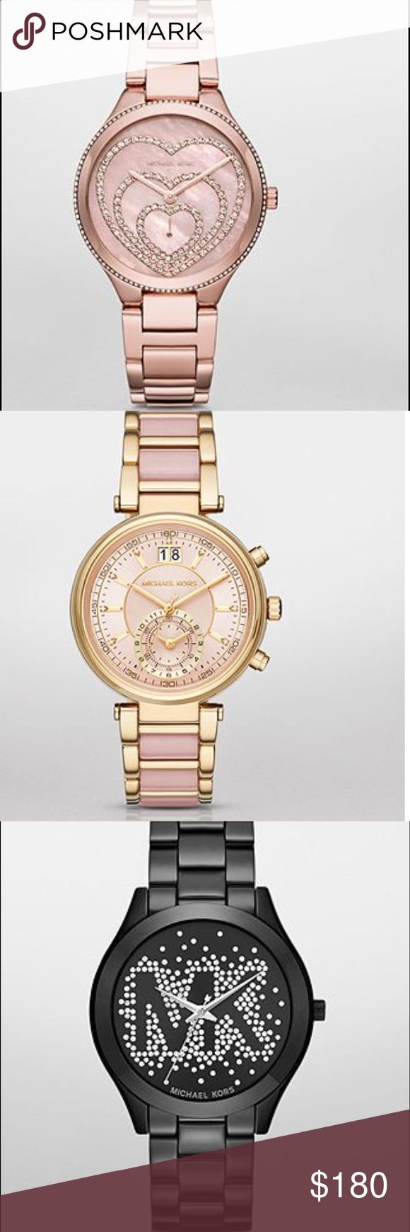 Michael kors watches Ready for your fashion watch. Price is for each watch and 🅿🅿 only price shipping is throw here Michael Kors Accessories Watches