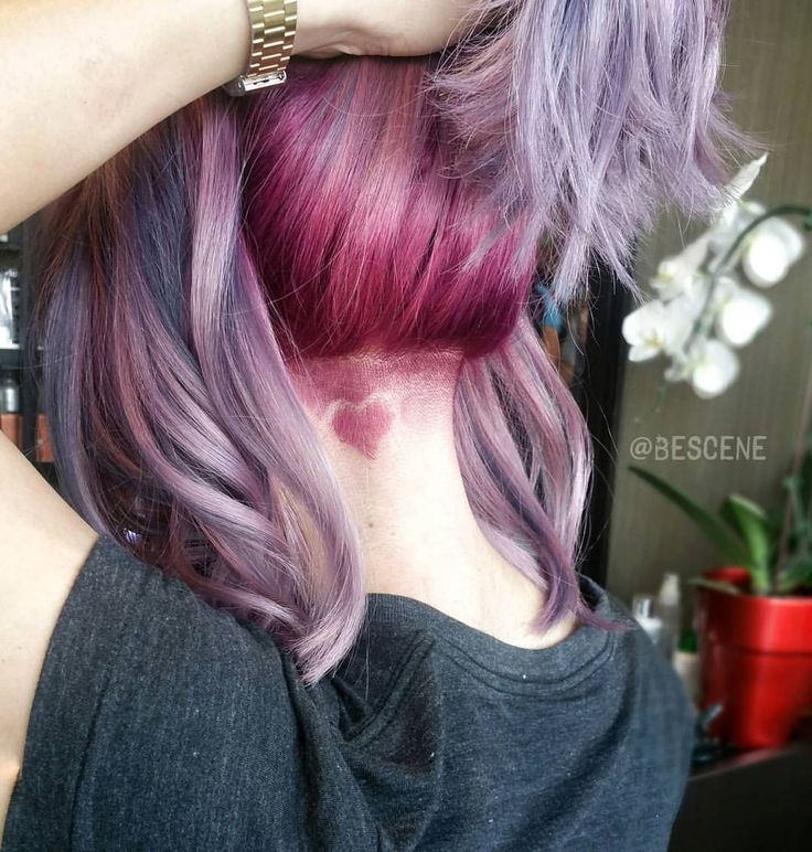 Metallic Blonde with lilac strands by @bescene # ...