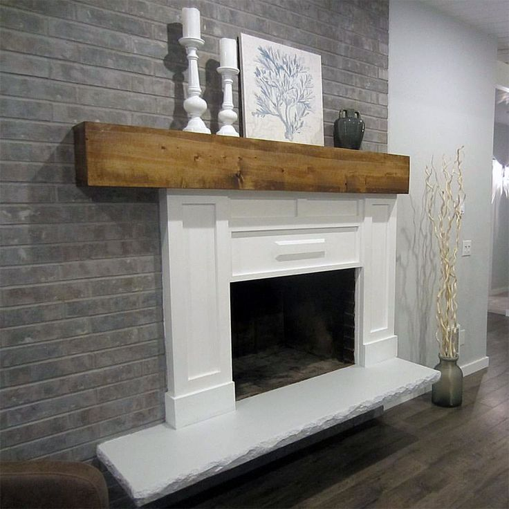 Grey Paint Wash On A Brick Fireplace Before  After  Projects to Try  Painted brick