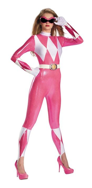 Nice Costumes Pink Ranger Sassy Adult Bodysuit Costume just added...