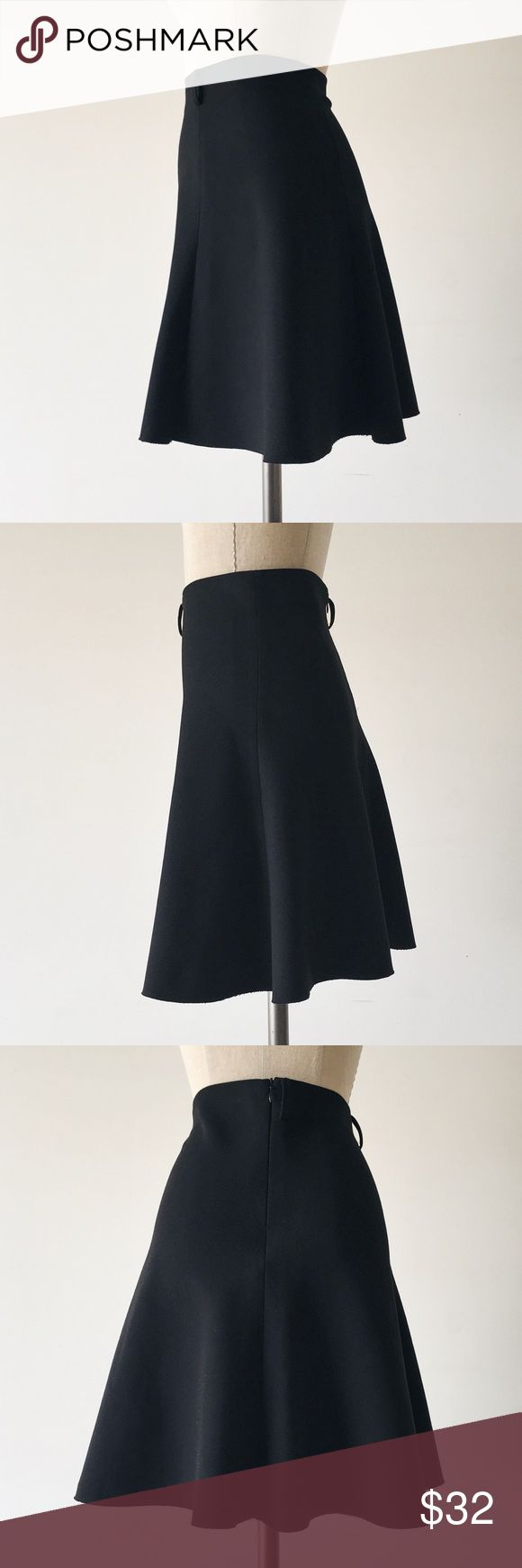"""ZARA   Black Neoprene Trumpet Skirt FEATURES:  •Rear invisible zipper  •Belt loops (no belt included)  •Slight stretch  •Synthetic fabric  MEASUREMENTS: Waist - 26"""" Hips - 34"""" Length - 20""""  ☑️Very good condition ✖️NO TRADES/RESERVES/MODELING 10-058-16 Zara Skirts"""