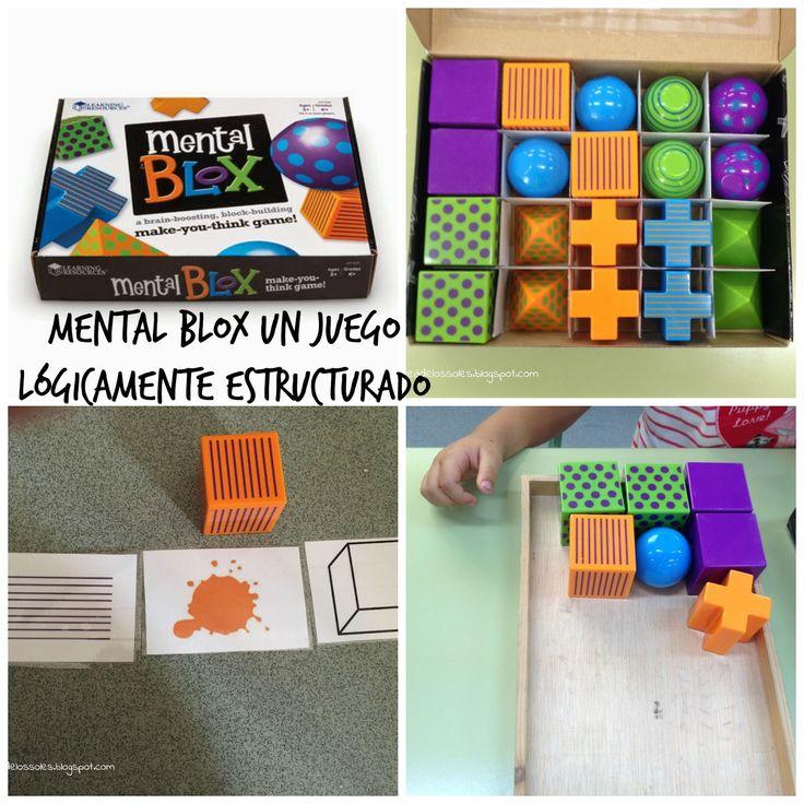 El Mental  Blox de la marca inglesa learning resources  es un juego que hemos utilizado mucho este curso.