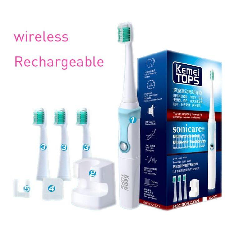 KEMEI Electric Toothbrush Ultrasonic Smart Tooth brush Rotation Type Waterproof Oral Hygiene Dental Care b pro teethbrush BT-184