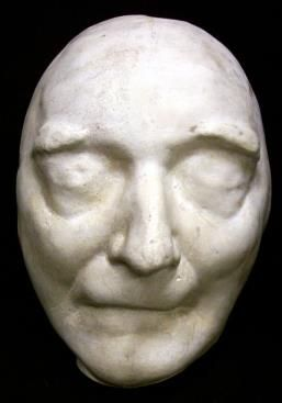This is the death mask of the famous writer Jonathan Swift. Included amongst his large body of work is Gulliver's Travels.