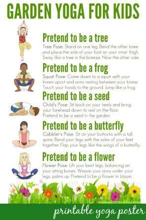 Yoga For Kids: Free Printable Poster Collection | Childhood101