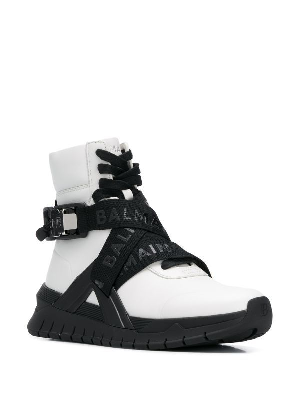 Balmain B Troop High Top Sneakers Farfetch In 2020 With Images