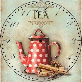 Teapot clock -- Printable image