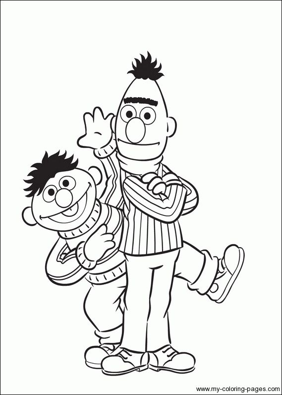 bert and ernie coloring pages - photo#7