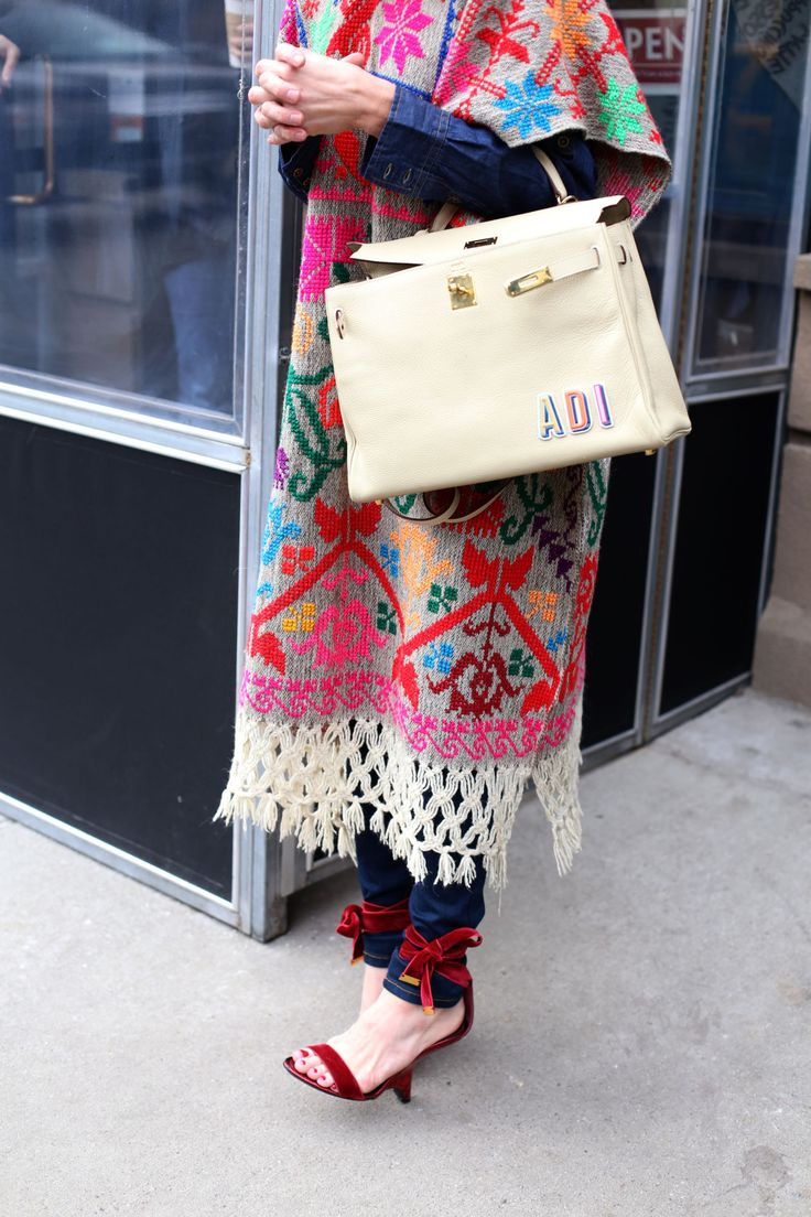 love the ethnic with the glamorous (those heels!)