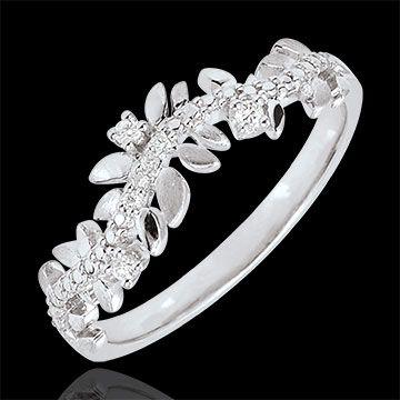 cadeaux Bague Jardin Enchanté - Feuillage Royal - diamant et or blanc - 18 carats                                                                                                                                                                                 Plus