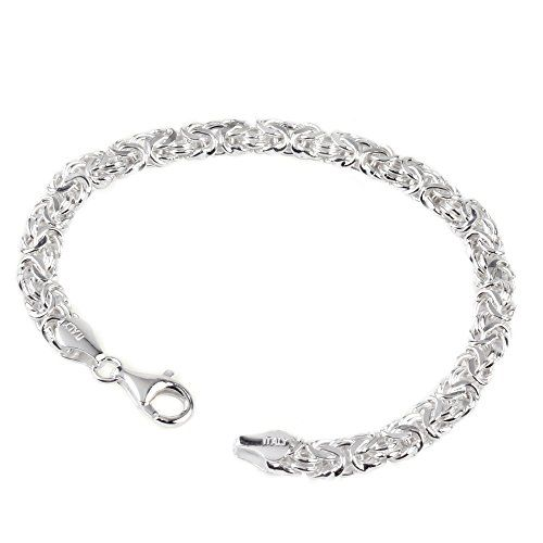 gotcharm 6.6 mm Wide Sterling Silver Ladies 7.5 Inch Byzantine Bracelet - 7.6 Grams A lovely Byzantine bracelet, even though semi solid this still has a great weight of 7.6 grams average look and looks very expensive. 7.5 inch and 6.6 mm wide, this brace (Barcode EAN = 0644287971914) http://www.comparestoreprices.co.uk/december-2016-6/gotcharm-6-6-mm-wide-sterling-silver-ladies-7-5-inch-byzantine-bracelet--7-6-grams.asp