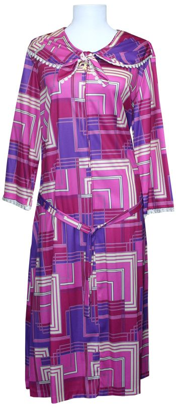 3/4 Sleeve Poly Zip front dress - Clearance. @ $28.00