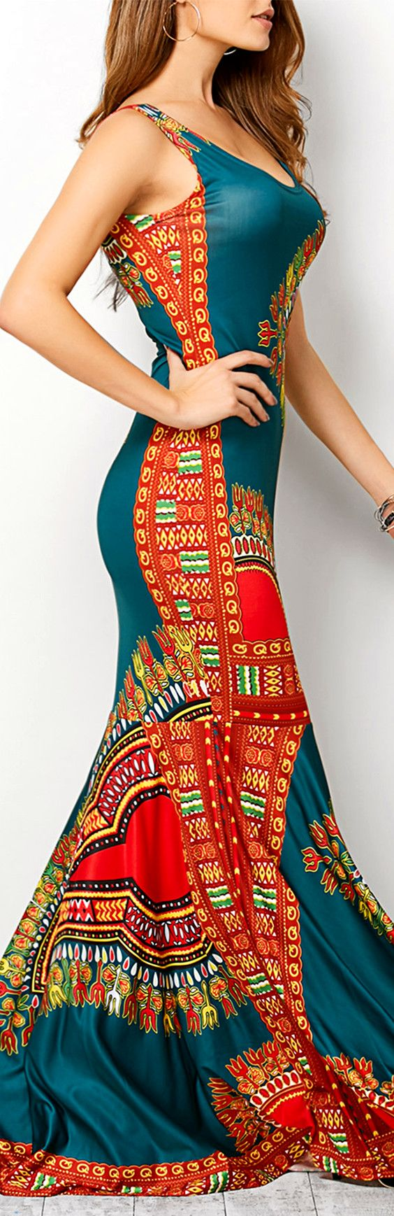 $16.76 Bohemian Tribe Print Tank Dress
