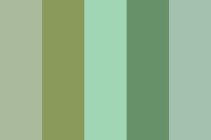Sage green color palette for my house pinterest - Sage green color wheel ...