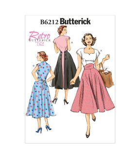 Butterick Pattern B6212-A50-Misses' Dress-6-8-10-12-14
