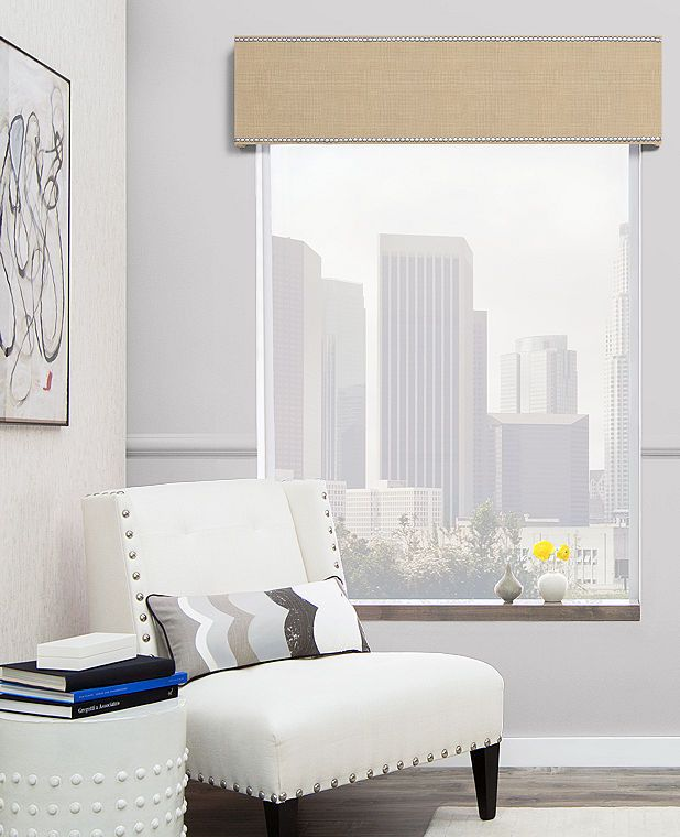 Bring a uniquely modern and industrial flair to your window treatments by adding a cornice with nailheads or a nailhead trim today. Order free swatches now.