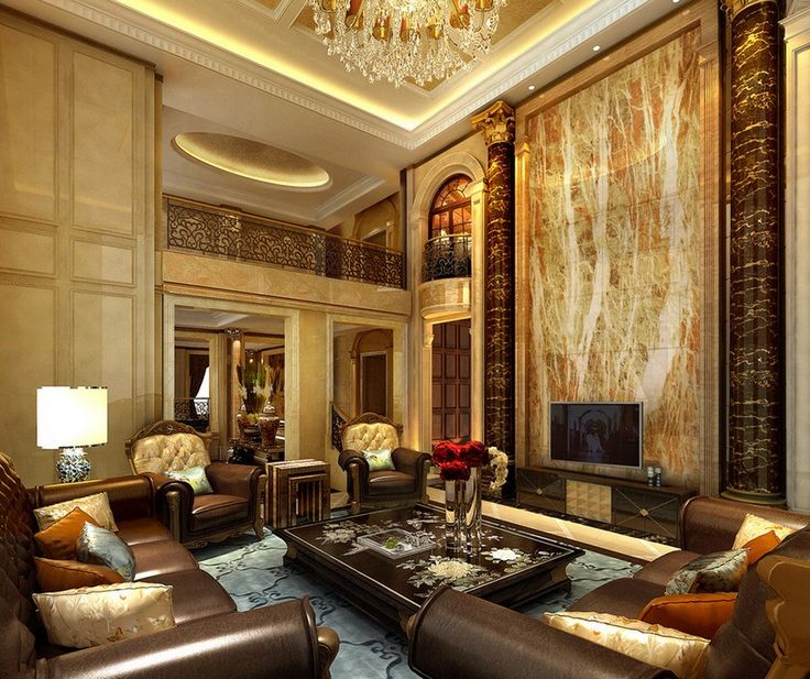 European style luxury villa living room interior design for European living room designs