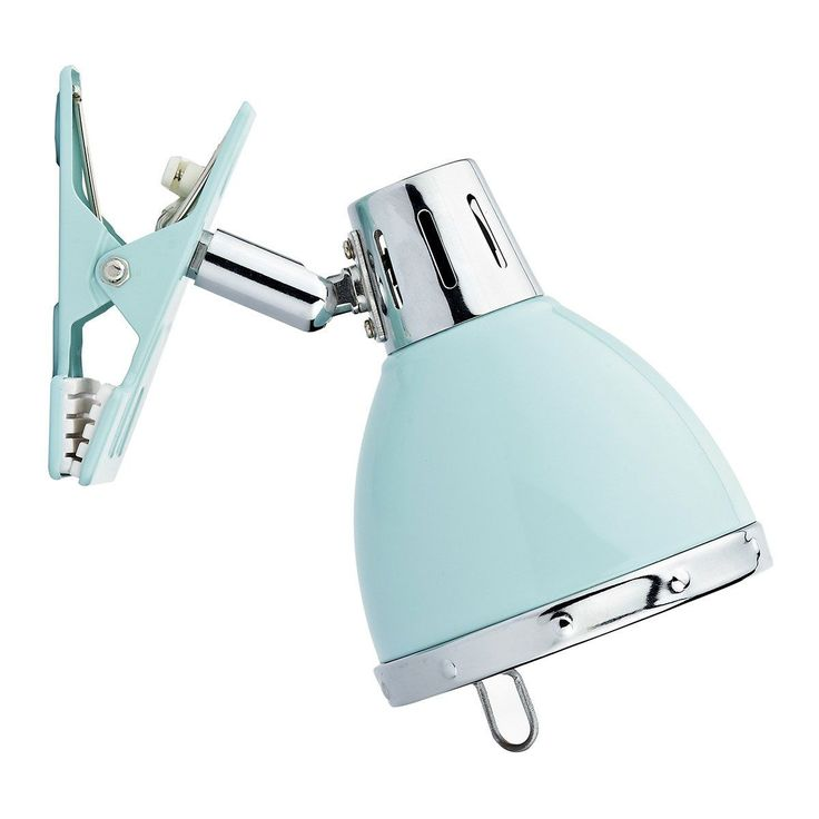 The Dar Osaka Clip On Wall Lamp in Gloss Blue and Chrome is great for adding illumination exactly where you need it, the Osaka Clip On Spots have a fully adjustable shade and are