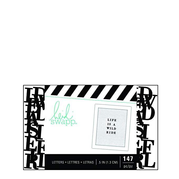 American Crafts Heidi Swapp Letterboard 206 Piece Alphabet Sans Serif Black