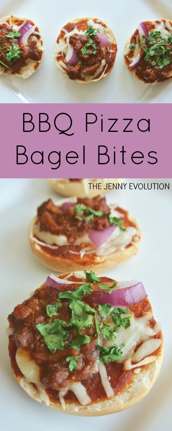 BBQ Pizza Bagel Bites Snack Recipe | The Jenny Evolution