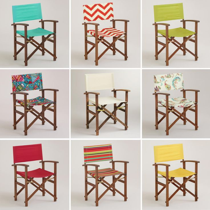 Outdoor -- World Market Bali Club Chair -- Frame is $99.98 set of two; canvas inserts $16.99 per set (could replace canvas in future, or get extras just in case.)