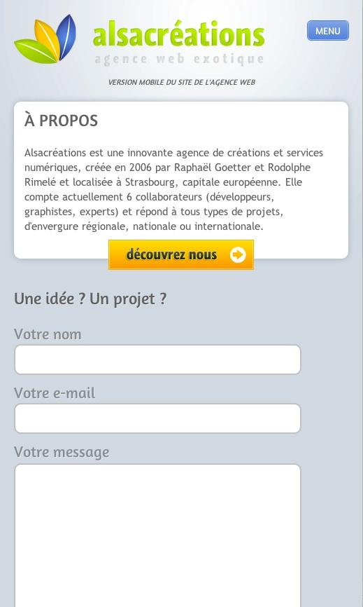 http://www.alsacreations.fr/  mobile