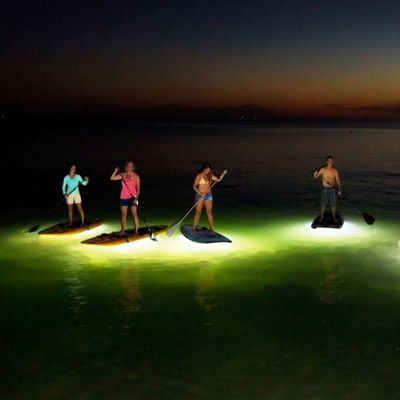 Stand Up Paddleboard Yoga | San Diego Paddle Yoga say what?!?!? Glowing paddle boards!!!