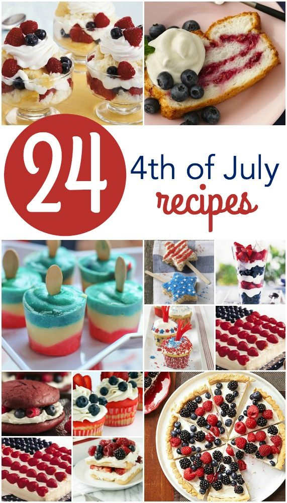 fourth of july desserts on pinterest